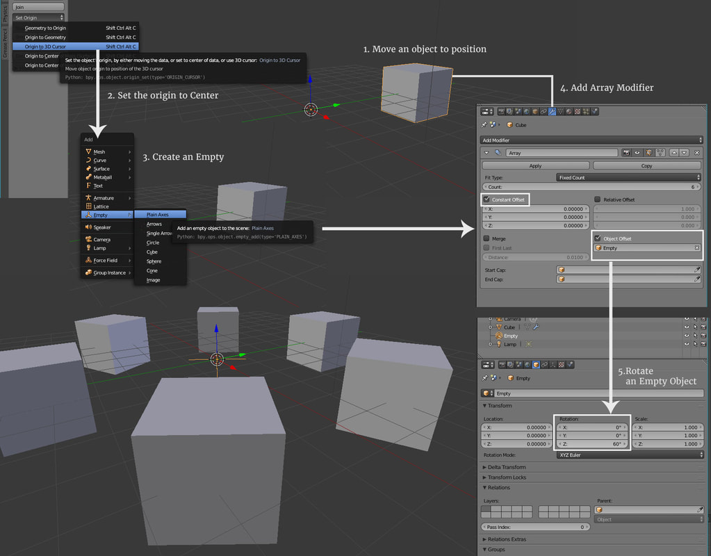 blender array